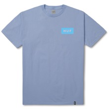 View the Huf Bar Logo Flock T-Shirt - Light Blue from the T-Shirts clothing range online today from Boarderline