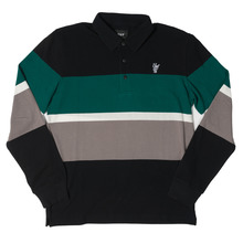 View the Huf Bayside Long Sleeve Polo - Black from the T-Shirts clothing range online today from Boarderline