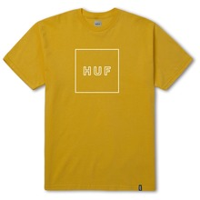 View the Huf Box Logo Puff T-Shirt - Mustard from the T-Shirts clothing range online today from Boarderline