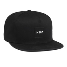 View the Huf Box Logo Snapback Cap - Black from the Snapbacks, 6 Panel Caps clothing range online today from Boarderline
