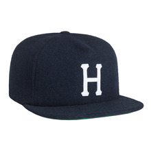 View the Huf Classic H Wool Strapback Cap - Navy from the Snapbacks, 6 Panel Caps clothing range online today from Boarderline