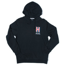 Huf Crooked H Hooded Sweat - Black