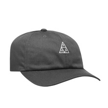 View the HUF ESSENTIALS TRIPLE TRIANGLE CURVED VISOR CAP - CHARCOAL from the Snapbacks, 6 Panel Caps clothing range online today from Boarderline