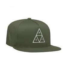 View the HUF ESSENTIALS TRIPLE TRIANGLE SNAPBACK CAP - LODEN from the Snapbacks, 6 Panel Caps clothing range online today from Boarderline