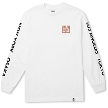 View the Huf International Block Long Sleeve - White from the T-Shirts clothing range online today from Boarderline