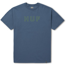 View the Huf Outline OG Overdye T-Shirt - Slate from the T-Shirts clothing range online today from Boarderline
