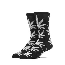 View the Huf Plantlife Socks - Black/Grey Heather from the Socks clothing range online today from Boarderline