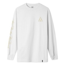 View the HUF PRESTIGE TRIPLE TRIANGLE LONG SLEEVE - WHITE from the T-Shirts clothing range online today from Boarderline