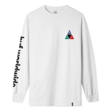 View the HUF PRISM TRIPLE TRIANGLE LONG SLEEVE - WHITE from the T-Shirts clothing range online today from Boarderline