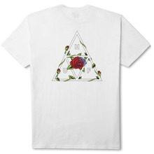 View the Huf Roses Triple Triangle T-Shirt - White from the T-Shirts clothing range online today from Boarderline