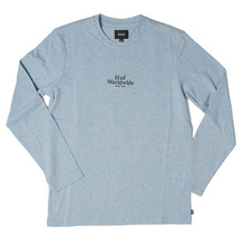 View the Huf Royale Long Sleeve - Blue/Grey Heather from the T-Shirts clothing range online today from Boarderline