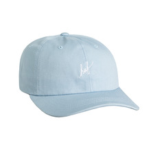 View the Huf Script Curve Brim Dad Hat - Light Blue from the Snapbacks, 6 Panel Caps clothing range online today from Boarderline