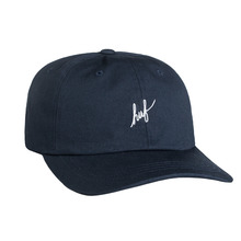 View the Huf Script Logo Curve Brim Cap - Navy from the Snapbacks, 6 Panel Caps clothing range online today from Boarderline