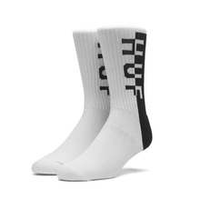 View the Huf Split Crew Sock - White from the Socks clothing range online today from Boarderline