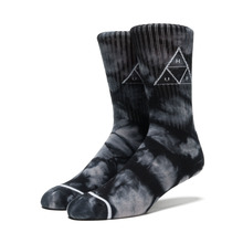 View the Huf Triple Tie Dye Crew Sock - Black from the Socks clothing range online today from Boarderline