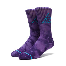 View the Huf Triple Tie Dye Crew Sock - Purple from the Socks clothing range online today from Boarderline