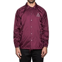 View the Huf Triple Triangle Coach Jacket - Maroon from the Jackets clothing range online today from Boarderline