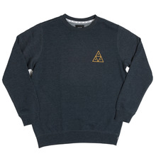 View the Huf Triple Triangle Crew Sweat - Navy Heather from the Hoods and Crews clothing range online today from Boarderline