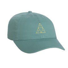View the Huf Triple Triangle Curve Dad Hat - Cypress from the Snapbacks, 6 Panel Caps clothing range online today from Boarderline