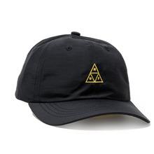 View the Huf Triple Triangle Curved Visor 6 Panel Cap - Black from the Snapbacks, 6 Panel Caps clothing range online today from Boarderline