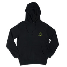 View the Huf Triple Triangle Hooded Sweat - Black from the Hoods and Crews clothing range online today from Boarderline