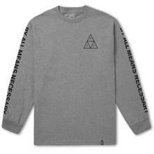 View the HUF TRIPLE TRIANGLE LONG SLEEVE - GRAY HEATHER from the T-Shirts clothing range online today from Boarderline