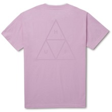 View the Huf Triple Triangle Puff T-Shirt - Pink from the T-Shirts clothing range online today from Boarderline