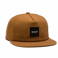 View the Huf Wash Canvas Box Logo Cap - Caramel from the Snapbacks, 6 Panel Caps clothing range online today from Boarderline