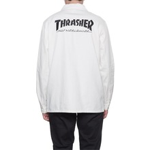 View the Huf X Thrasher Chore Jacket/Shirt - Off White from the Shirts clothing range online today from Boarderline