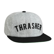 View the Huf X Thrasher Vintage Baseball 6 Panel - Heather Grey from the Snapbacks, 6 Panel Caps clothing range online today from Boarderline