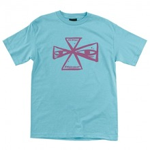 View the Independent x Ray Barbee Cross T-Shirt - Blue from the T-Shirts clothing range online today from Boarderline
