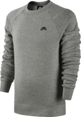 View the Nike SB Icon Crew Sweat - Heather Grey from the Hoods and Crews clothing range online today from Boarderline