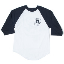 Obey Broken Bottle Raglan Top - White/Black