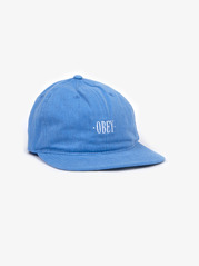View the Obey Wilheim 6 Panel Cap - Sky Blue from the Snapbacks, 6 Panel Caps clothing range online today from Boarderline