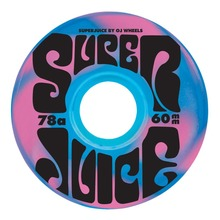 View the OJ SOFT WHEELS SUPER JUICE SWIRL 78a BLUE/PINK - 60MM from the Wheels clothing range online today from Boarderline