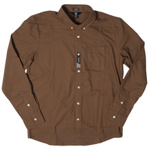 View the Volcom Oxford Shirt - Mud from the Shirts clothing range online today from Boarderline