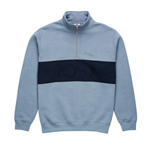 View the Polar Block Zip Sweat - Dusty Blue/Navy from the Hoods and Crews clothing range online today from Boarderline
