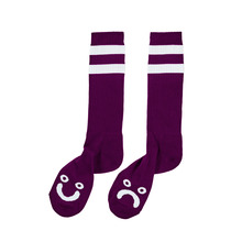 View the Polar Happy/Sad Socks - Deep Prune/White from the Socks clothing range online today from Boarderline