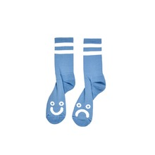 View the POLAR SKATE CO HAPPY/SAD SOCKS - LIGHT BLUE from the Socks clothing range online today from Boarderline