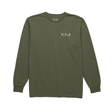 View the Polar Script Logo Long Sleeve - Dusty Olive from the T-Shirts clothing range online today from Boarderline