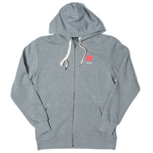 Polar Skate Co. Fill Logo Zip Hood - Heather Grey