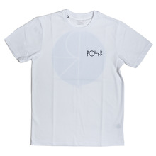 Polar Skate Co Fill Logo T-Shirt - White/Sky Blue
