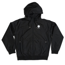 Polar Skate Co Fill Logo Windbreaker Jacket - Black/White