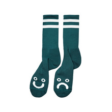 View the Polar Skate Co Happy/Sad Socks - Dark Green from the Socks clothing range online today from Boarderline