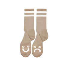 View the Polar Skate Co Happy/Sad Socks - Sand from the Socks clothing range online today from Boarderline