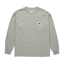View the Polar Skate Co Pocket Long Sleeve - Heather Grey from the T-Shirts clothing range online today from Boarderline