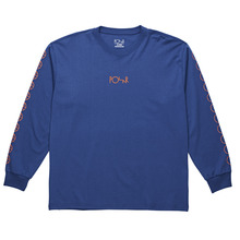 View the Polar Skate Co Racing Long Sleeve - 80's Blue from the T-Shirts clothing range online today from Boarderline
