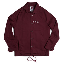 Polar Skate Co Stroke Logo Coach Jacket - Burgundy