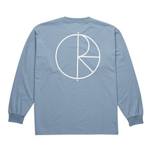 View the Polar Skate Co Stroke Logo Longsleeve - Captain's Blue from the T-Shirts clothing range online today from Boarderline
