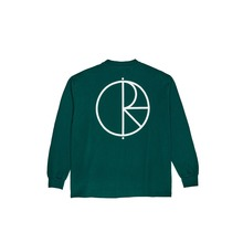 View the POLAR SKATE CO STROKE LOGO LONGSLEEVE - DARK GREEN from the T-Shirts clothing range online today from Boarderline